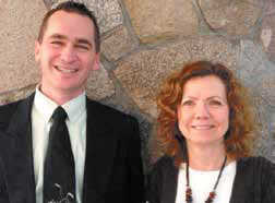 Chris Dugdale, Superintendent of Schools, Carla Wolitski, Executive Assistant.